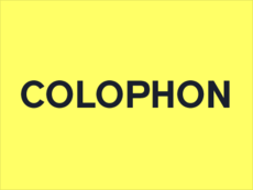 Colophon foundry | Fontdeck