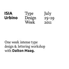 ISIA Urbino | typetoken®