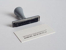 The Hungry Workshop | White on white letterpress business cards