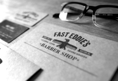 Fast Eddie's Barber Shop on the Behance Network