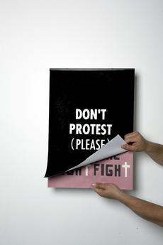 Jean Jullien's online portfolio: don't protest (please)