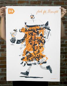 Hyperakt » Work » Hyperakt » Food for Thought Poster