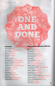 One & Done Studio » Pub no.03: 2010-213 » One & Done Studio