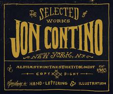 Jon Contino, Alphastructaesthetitologist